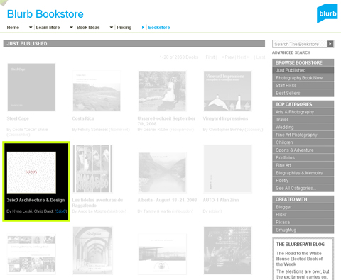 look for our book at the Blurb.com Bookstore