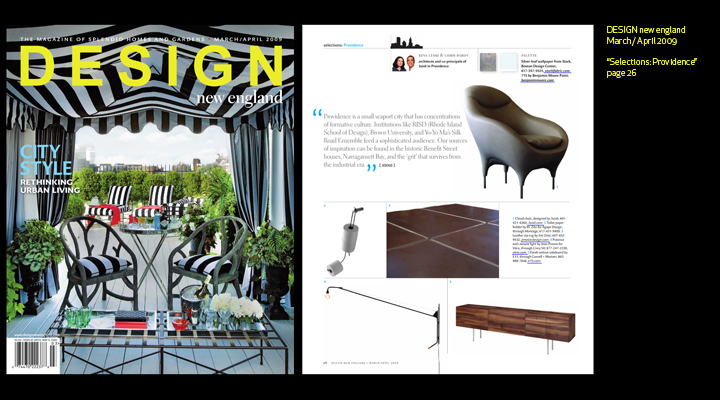 Kyna Leski and Chris Bardt in Design New England Magazine